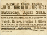 Grand Rail Road Jubilee Broadside