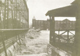 Hamilton High and Main Street Bridge During the 1913 Flood Photograph