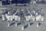 Grove City High School Marching Band in Formation Photograph