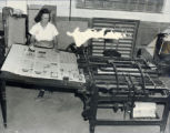 Grove City Record Printing Office Photograph