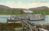 Island Queen Steamboat at Coney Island Postcards