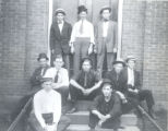 Group of Men at Stricke Lightfoots Saloon Photograph