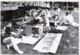 Sacred Heart School Desk Cleaning Photograph